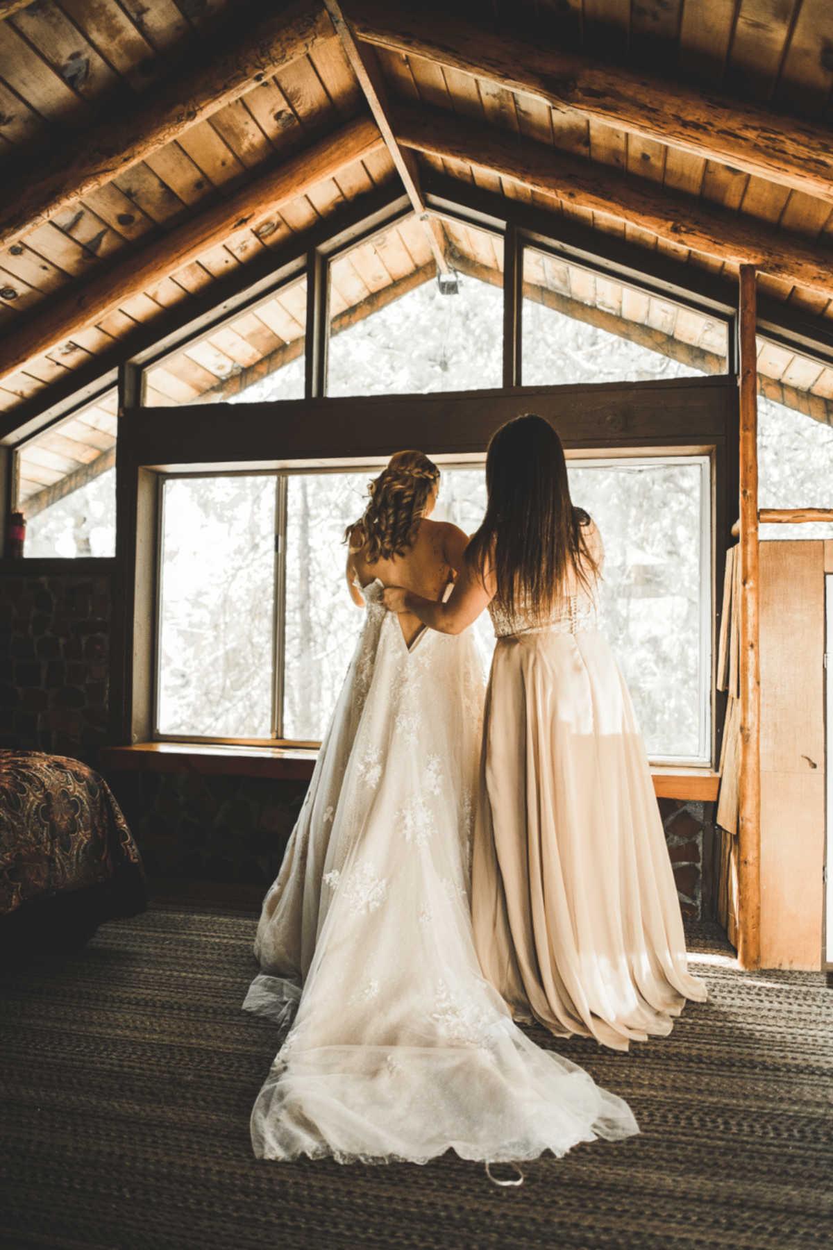 cabin wedding dress